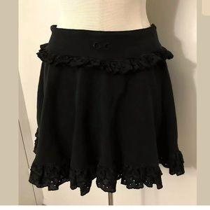 Dolce & Gabbana lace ruffle mini skirt